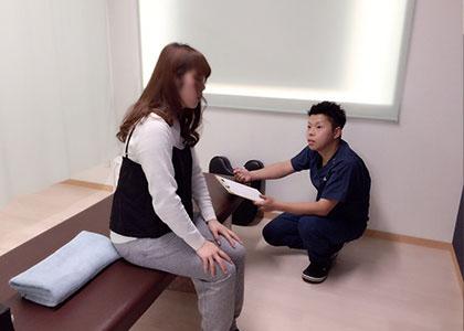 膝や股関節のカウンセリング・検査